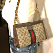 Load image into Gallery viewer, Vintage GG Web Gucci Clutch Crossbody Shoulder Bag