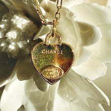 Load image into Gallery viewer, SALE Pink Heart CC Chanel Charm Pendant