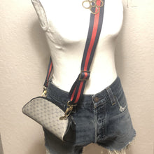 Load image into Gallery viewer, Vintage Navy micro GG Supreme Gucci Mini Crossbody/Bum Bag + 2 STRAPS!