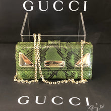 Load image into Gallery viewer, Chic Green Python Gucci WOC Crossbody Bum Bag clutch wallet