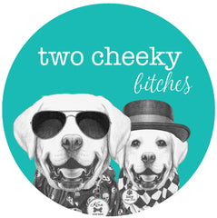 Two Cheeky Bitches - Personalised Pet Tags