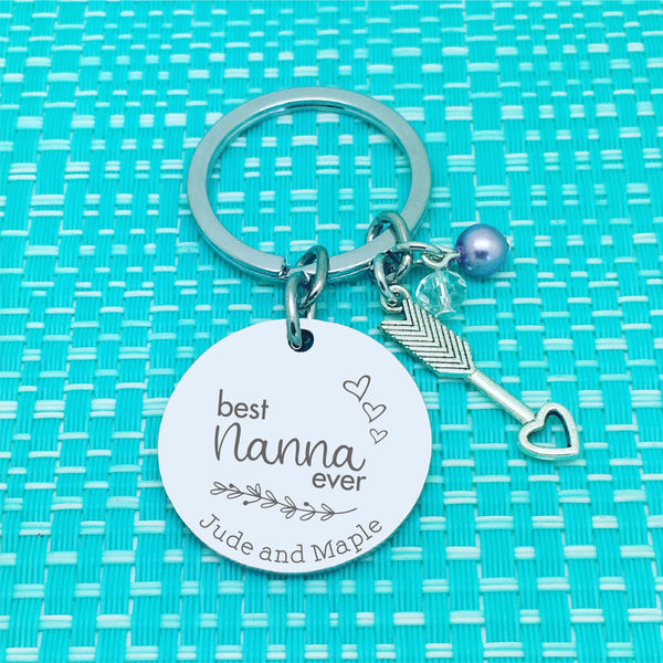 Best Grandma Ever Personalised Keyring (Change Grandma to another name of your choosing)