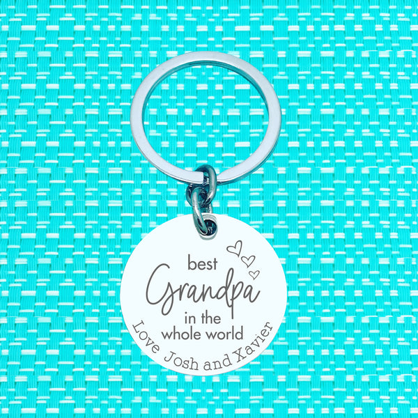 Best Daddy In The Whole World Personalised Keyring (change Daddy to a name of your choosing)
