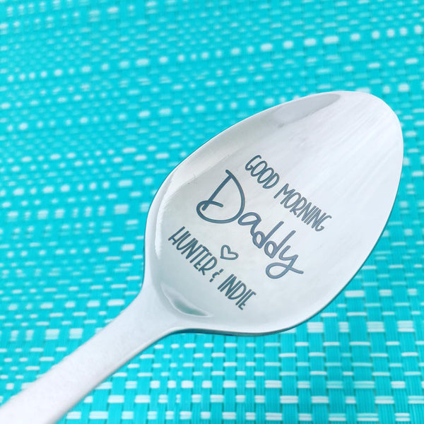 Good Morning Spoon, Good Morning Daddy Spoon (Personalise It With Any Name)