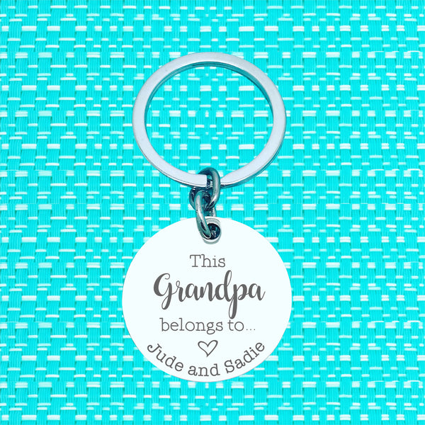Dad Established Personalised Keyring (change Dad to a name of your choosing)