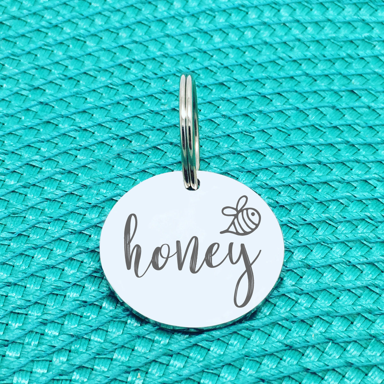 Personalised Pet Tag Honey Bee Design (Personalised Dog Tag / Personalised Cat Tag)