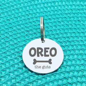 Personalised Pet Tag, 'The Guts' Design (Personalised Custom Engraved Dog Tag)