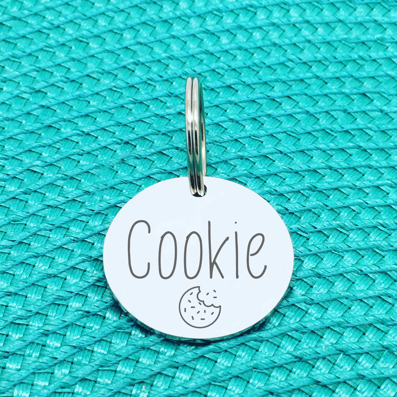 Engraved Custom Pet Tag Cookie Design (Personalised Dog Tag / Personalised Cat Tag)
