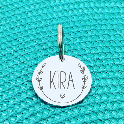 Engraved Personalised Pet Tag Luger Wreath Design (Personalised Dog Tag / Personalised Cat Tag)