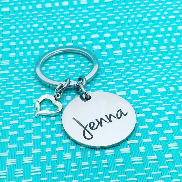 Drive Safe personalised double sided keyring (add a name or message on the back)