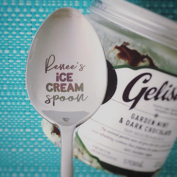 Personalised Ice Cream Spoon (Add Your Name, Personalised Spoon, Engraved Spoon, Custom Spoon)