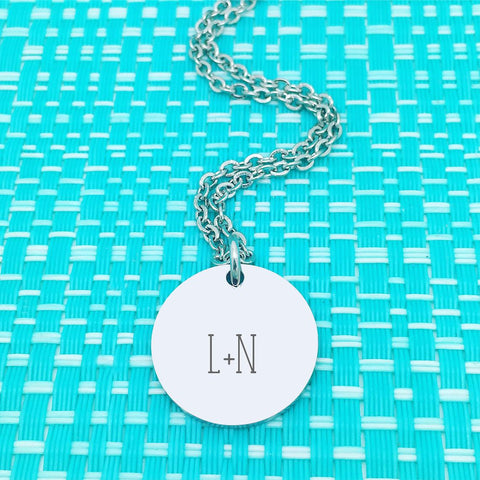 Cute Personalised Initials Monogram Necklace (Personalise With Initials Of Your Choosing)