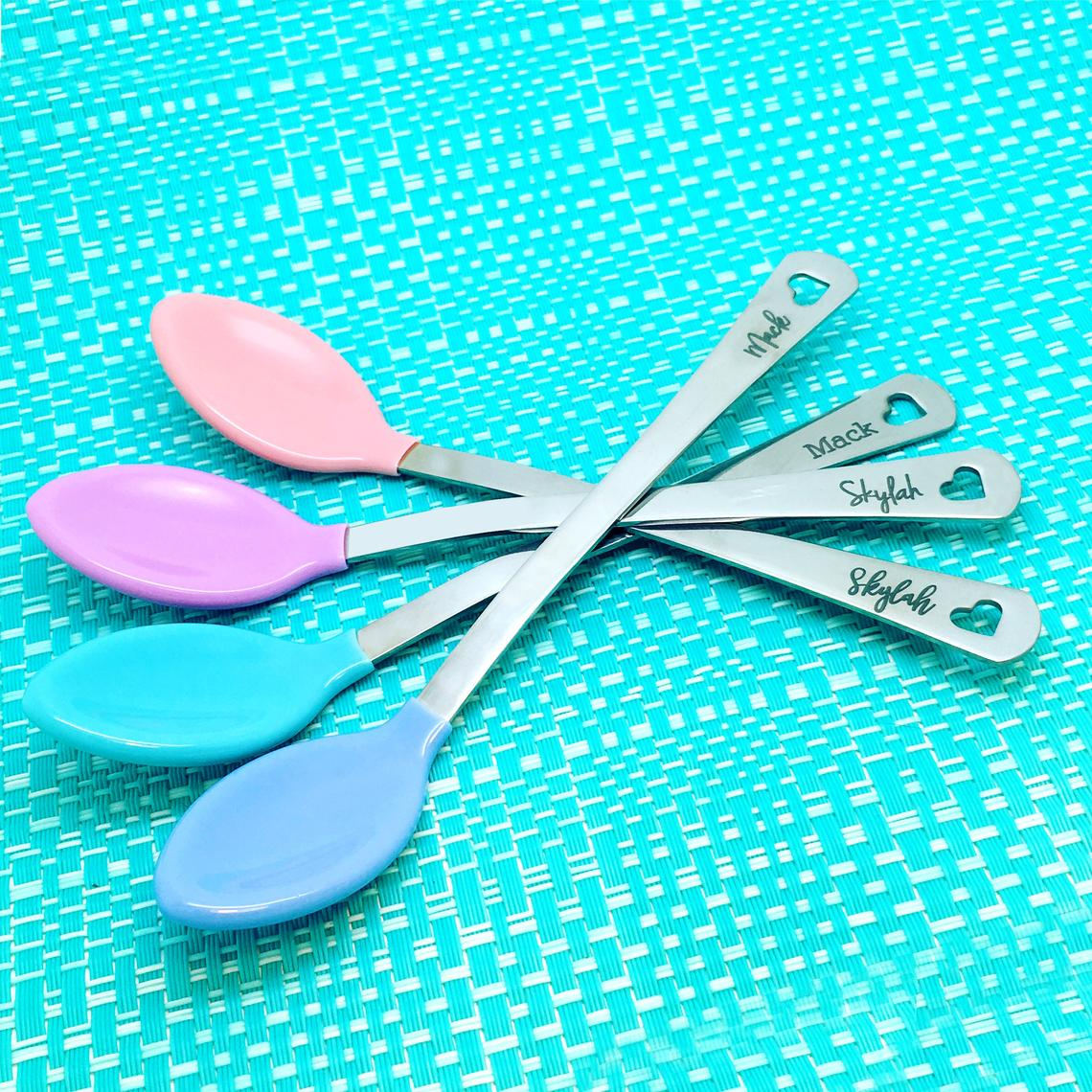 Engraved Personalised Baby Spoon (Personalised Newborn Gift, Personalised Baby Spoon, New Baby Gift)
