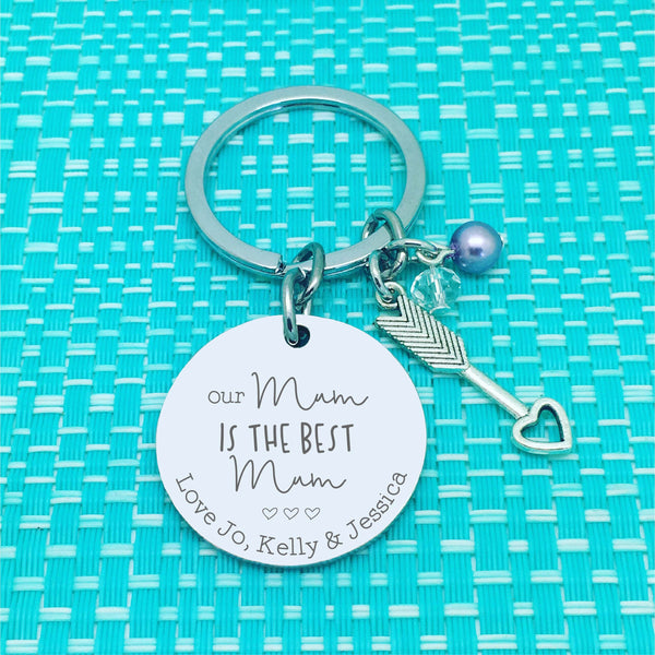 Our Nanny is the best Nanny Personalised Keyring (Change Nanny to another name of your choosing)