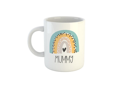 Personalised Rainbow Mug, Add Your Name To The Front & Message To The Back