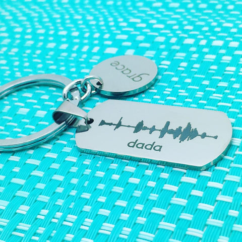 Personalised Engraved Soundwave Keyring (We Can Engrave Your Soundwave On This Piece)