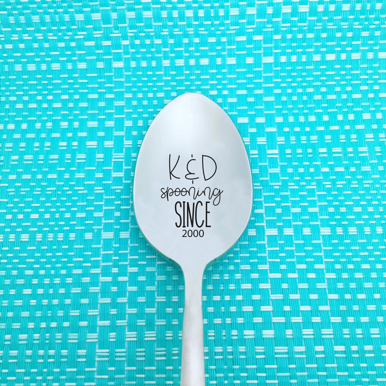 Spooning Since Personalised Spoon (Engraved Spoon, Anniversary Gift, Valentines Day Gifts for Him)