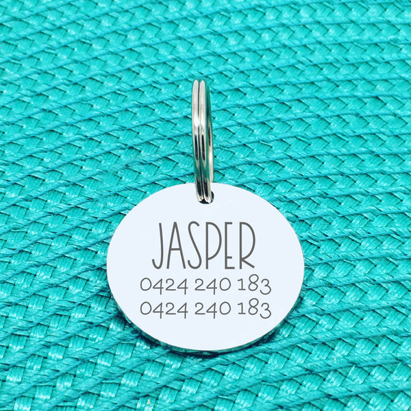 Personalised Pet Tag - Please Call My Mum Before She Loses Her Shit Design (Change Mum to Another Name)