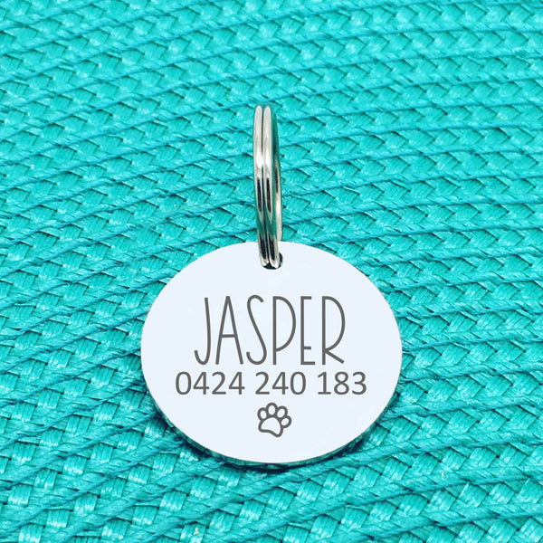Personalised Pet Tag - Oh Shit I'm Lost, Have Your People Call My People Double Sided Dog Tag (Personalised Dog Tag)