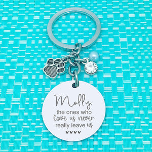 Pet Memorial Keyring, The Ones Who Love Us Never Really Leave Us Personalised Keyring