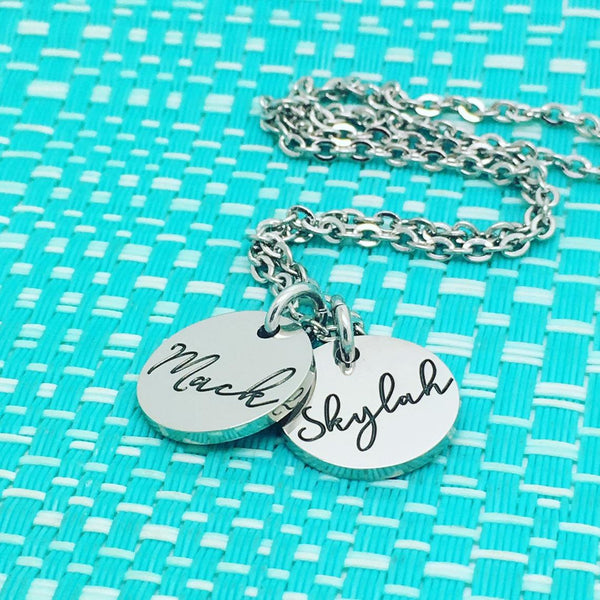 Beautiful Dainty Personalised Name Necklace (Personalised With Your Childrens Names)