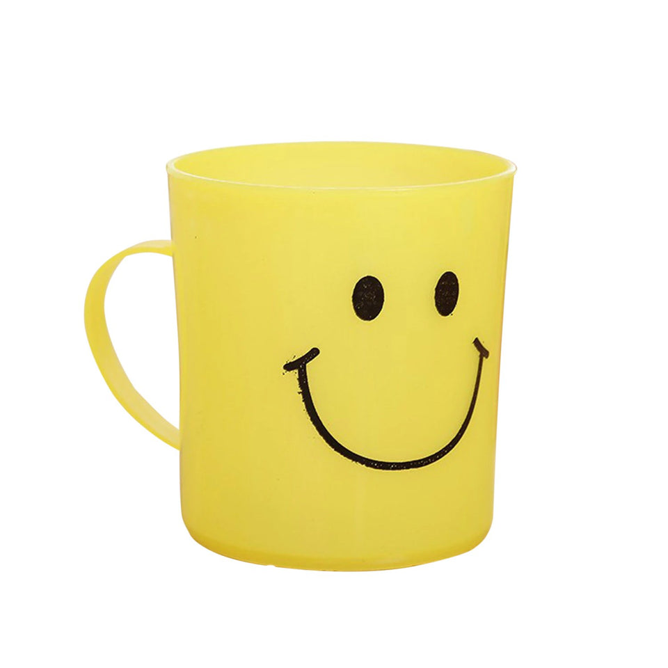 744 Unbreakable Plastic Coffee-Milk Glamified Smiley Mug