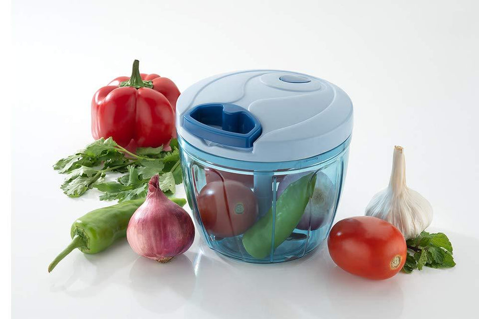 738 Compact & Powerful Hand Held Vegetable Chopper with 2 Blade (650 ml)