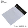 900 Tamper Proof Courier Bags(6.5X08 PLAIN 180 POD M1) - 100 pcs