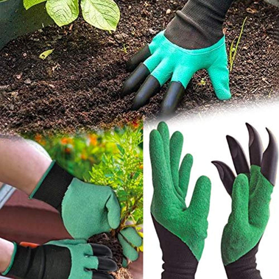 Glamified Gardening Tools - Garden Gloves with Claws for Digging and Planting, 1 Pair Ergonomic Grip, Incredibly Sharp Secateurs