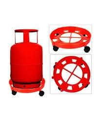 Ankur Gas Cylinder Trolley With Wheels | Gas Trolly | Lpg Cylinder Stand