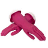 665 - Flock line Reusable Rubber Hand Gloves (Pink) - 1pc