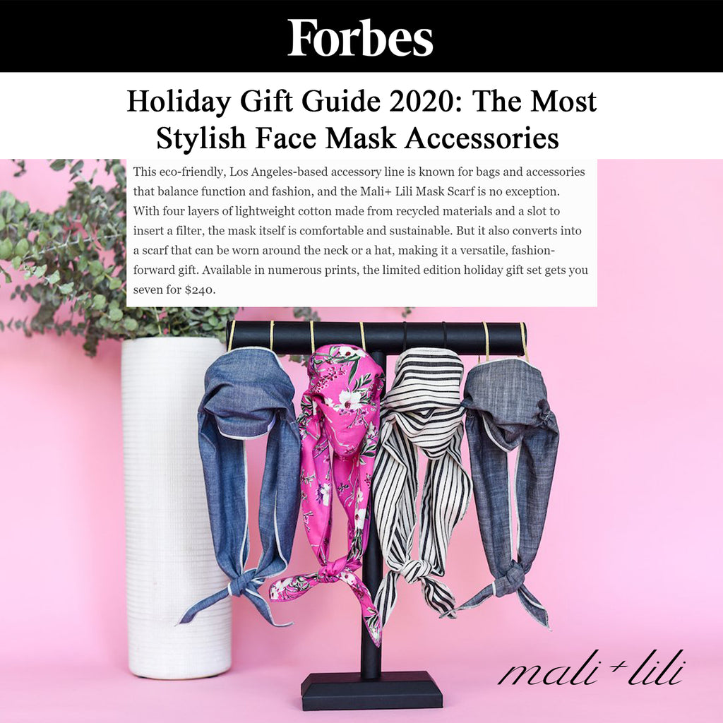 Forbes, Holiday Gift Guide 2020 featuring Mali + Lili