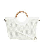 Brielle Woven Tote with Removable Pouch