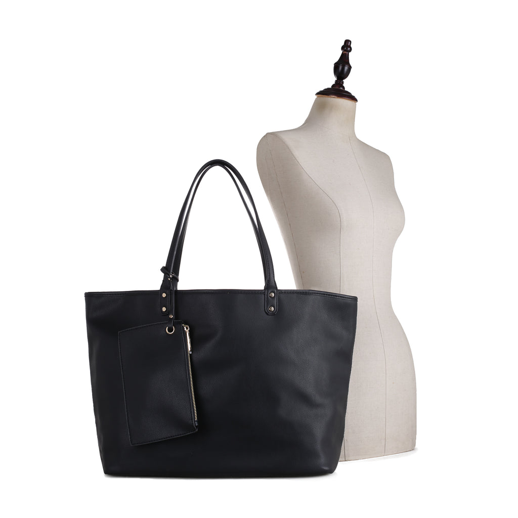 Tina Reversible Tote with Canvas Leopard Interior