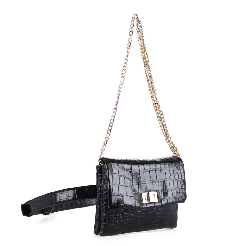 Aria Croc Convertible Belt Bag