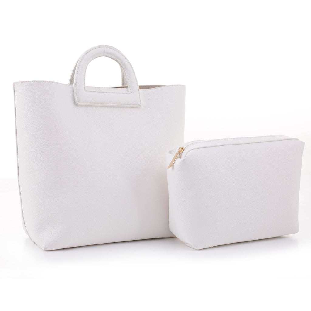 Ella Cutout Handle Tote with Pouch