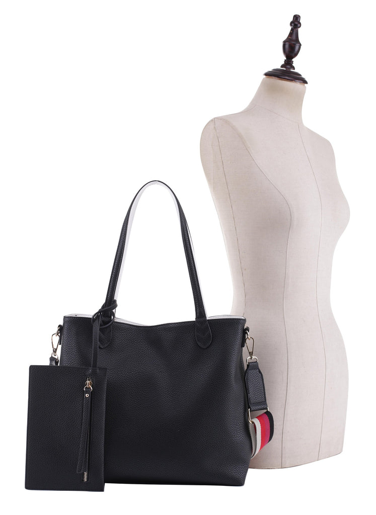 Melissa Reversible Vegan Leather Tote