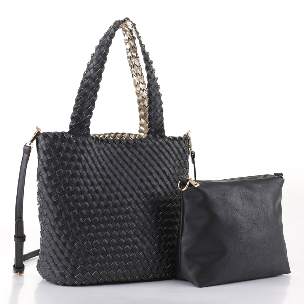 Ray Woven Tote with Pouch