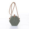 Lexi Rattan Hexagon Crossbody