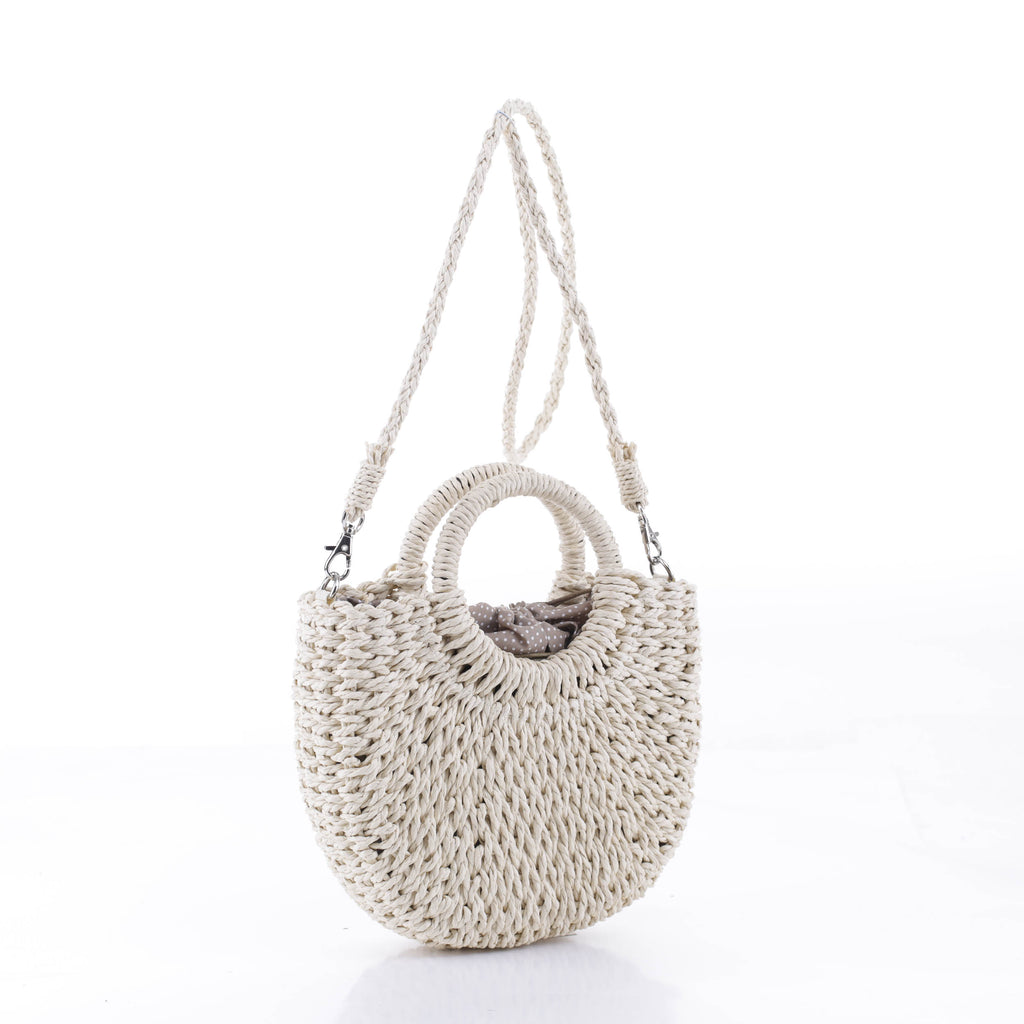 Ashley Mini Straw Bag