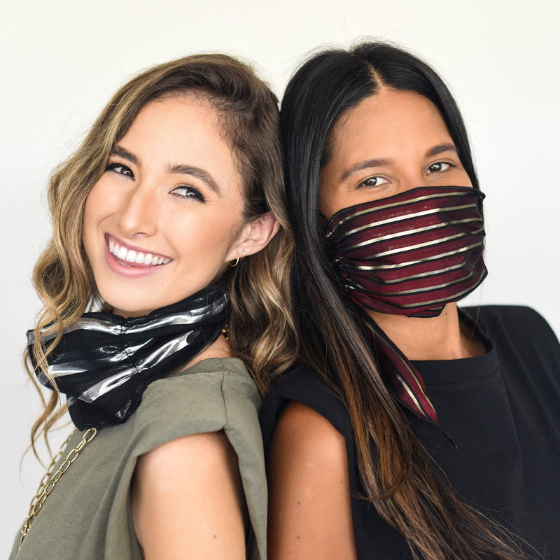 The MASK SCARF with shine by Mali + Lili