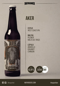 NAPARBIER AKER - West Coast IPA - Alc. 6,4% - 33cl
