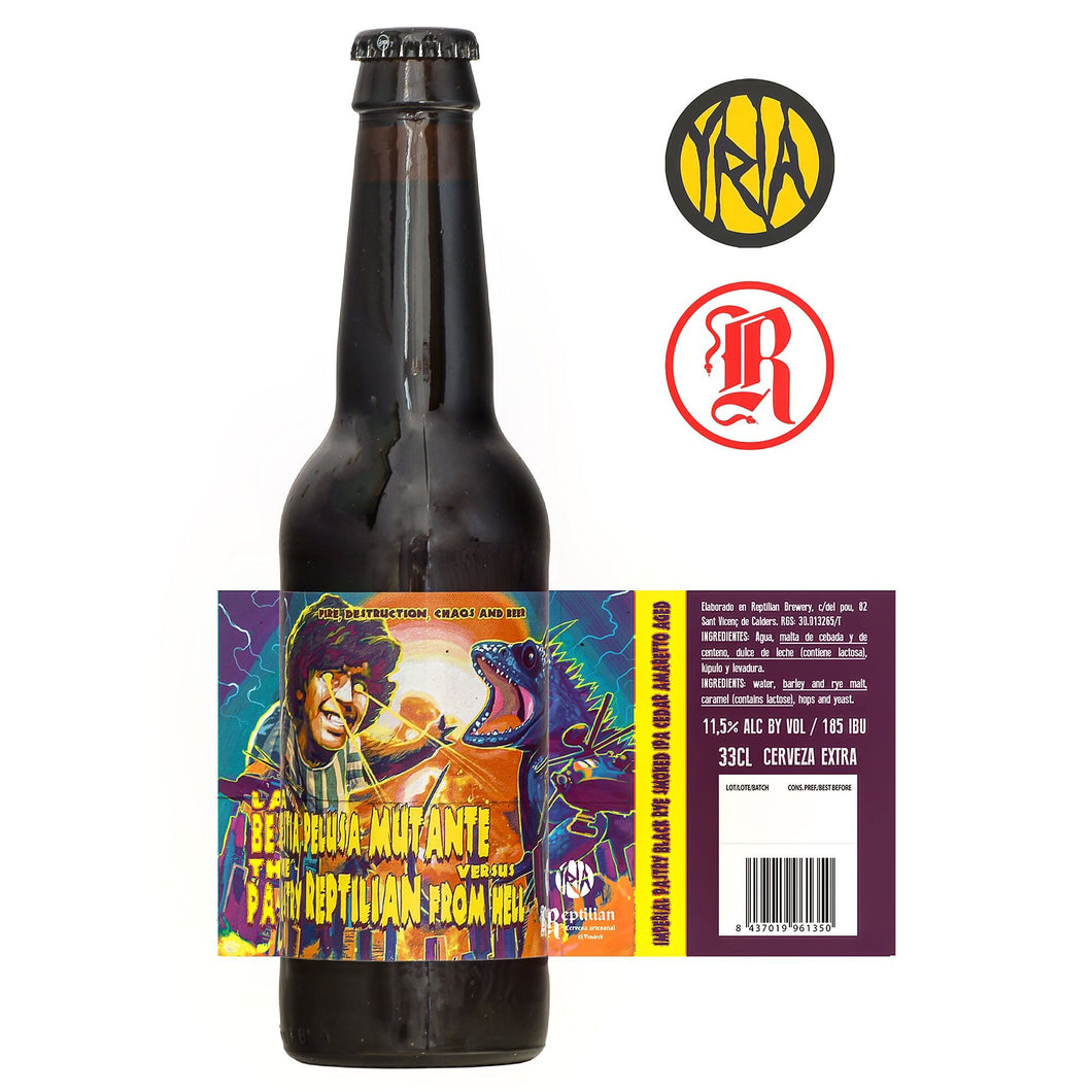 REPTILIAN La Bestia Pelusa Mutante Versus the Pastry Reptilian From Hell - Imperial IPA 11,5% 33cl