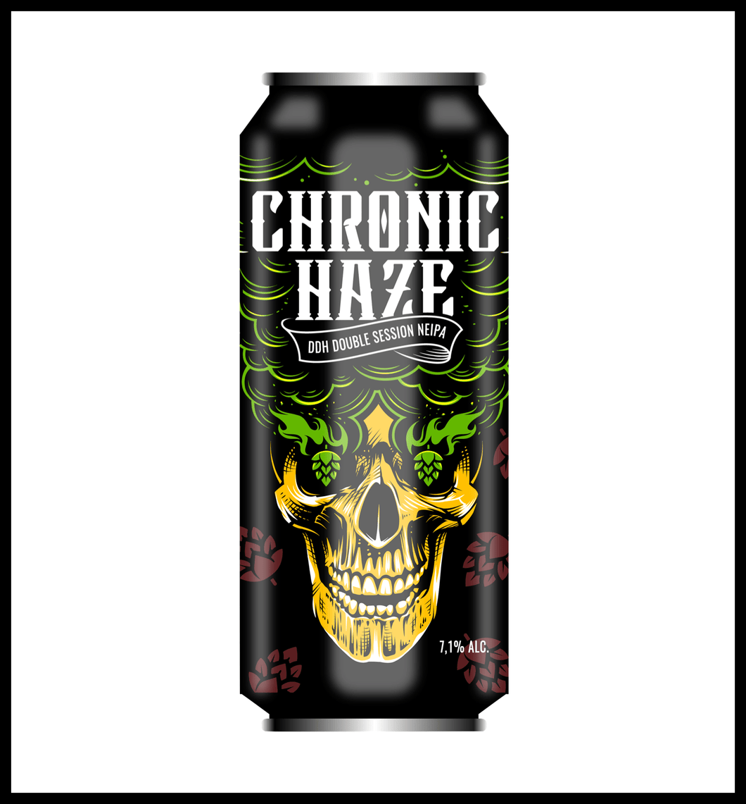 LA GRUA Chronic Haze - DDH Double Session NEIPA 6.1% - Lata 44cl