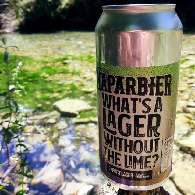 NAPARBIER What`s a lager without a lime? - Export lager 5,2% Alc. Lata 44cl