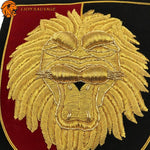 Badge Textile Lion Attirance