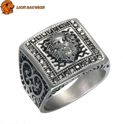 Bague Lion Design