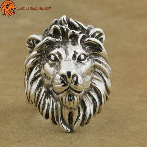 Bague Lion de l'Atlas en Argent Sterling