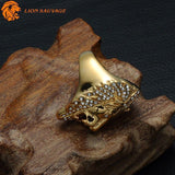 Bague Lion de la Jungle en acier