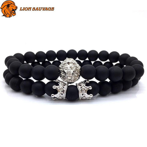 Bracelet Lion Association Féroce Perles